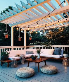 Undecorated Home's Deck & Backyard Sources, Patio Furniture, Outdoor Styling Outdoor Spaces, Outdoor Living, Outdoor Decor, Pergola Design, Pergola Ideas, Deck With Pergola, Balcony Deck, Design Jardin, Garden Design