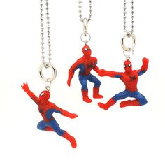 Superman in action necklace