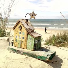 Домик у моря, дрифтвуд-декор