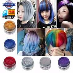Mofajang Hair Color Wax - New Site Dye My Hair, One Hair, Temp Hair Color, New Hair Colors, Hair Colour, Curly Hair Styles, Natural Hair Styles, Eyelash Kit, Temporary Hair Color