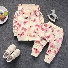6d75302057ae US $8.58 52% OFF|BibiCola newborn baby girls clothing set spring autumn  toddler coat+pants 2pcs casual cotton suits for girls infant tracksuits-in  Clothing ...