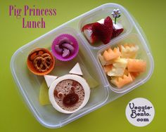 princess-pig-lunch  #cute #bento #vegetarian #CuteZCute #EasyLunchBoxes