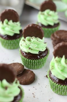 Thin Mint Cupcakes | My Baking Addiction
