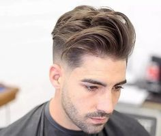 Medium Hairstyles - Long Textured Mid Fade Hairstyle