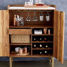 Diy Home Bar, Modern Home Bar, Bars For Home, Diy Bar, Modern Cabinets, Diy Cabinets, Home Bar Cabinet, Bar Cabinets For Home, Small Bar Cabinet