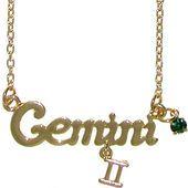 Gemini Horoscope Zodiac Nameplate Necklace, ASTROgirl!