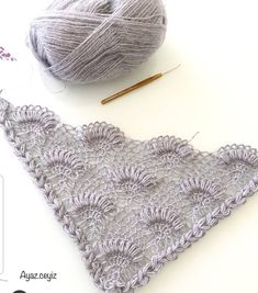 This Pin Was Discovered By Dim - Diy Crafts - maallure Crochet Mandala, Crochet Shawl, Crochet Stitches, Crochet Hooks, Free Crochet, Crochet Blanket Patterns, Baby Knitting Patterns, Hand Knitting, Stitch Patterns