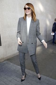 Emma Stone while visiting BBC Radio 1 in London in 2014. See all of the star's best looks.