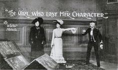 Melodrama Characters | Publicity postcard for the Melvilles' The Girl Who Lost Her Character