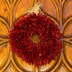 My new favorite holiday decoration... a ristra wreath!