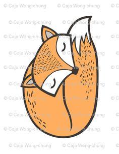 Sleeping Fox Plush Plushie Softie Cut & custom fabric by caja_design for sale on Spoonflower Softies, Plushies, Rock Painting Ideas Easy, Custom Fabric, Painted Rocks, Spoonflower, Woodland, Cricut, Fox