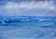 Abstract Art Watercolor - Deep - Abstract Ocean Watercolor