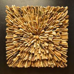 Wandpaneel driftwood 'oog' DW08