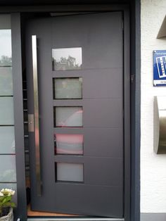 Stainless steel modern entry entrance store front timber for Residential main door design