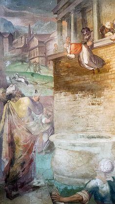 Scenes of martyrdom - drastic frescoes by Niccolò Pomarancio and Antonio Tempesta (Santo Stefano Rotondo, Rome)