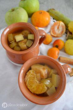 Ponche de frutas navideño o ponche de navidad www.pizcadesabor.com