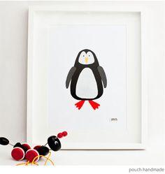 Playroom Print: Bondville: Pouch Handmade artwork for kids