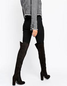 Bild 1 von Daisy Street – Schwarze Overknee-Stiefel mit Absatz 60€