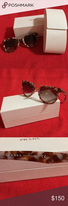 Prada Sunglasses No scratches, comes with original case and box. Missing one nose peace ( easily replaceable) Prada Other
