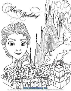 Elsa Ice Castle Gifts Coloring Page Find This Pin And More