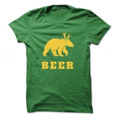 Vintage Yellow Bear+Deer=Beer - #simply southern tee #hoodies for men. ORDER NOW => https://www.sunfrog.com/St-Patricks/Vintage-Yellow-Bear-Green-26760066-Guys.html?68278