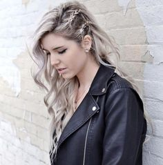 Long Wavy Hairstyle With Side Braids