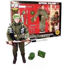 "Hasbro GI JOE Commemorative Collection (1964-1994) Series 12"" Tall Figure - U.S. Army Infantry ACTION SOLDIER (Hispanic) with Weapons and Accessories"