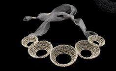 teri howes' crocheted wire jewelry | Daily Art Muse
