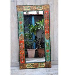 indyjskie drewniane lustro