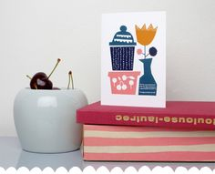 """From Darling Clementine's upcoming """"Harvest"""" line  {Like the paper cutout/collage feel of this print--nicole}"""
