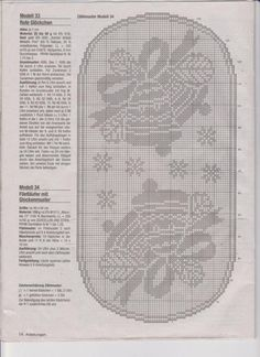 Gallery.ru / Фото #18 - 1α - ergoxeiro Filet Crochet Charts, Crochet Diagram, Crochet Motif, Irish Crochet, Crochet Doilies, Blanket Crochet, Crochet Table Runner Pattern, Crochet Tablecloth, Thread Crochet