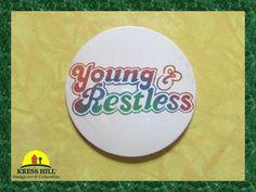 Young & Restless Vintage Large Pinback Button by KressHillVintage, $9.00