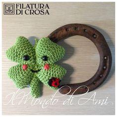 Quadrifoglio amigurumi realizzato con filato Filatura di Crosa. Uncinetto. Four leaf clover Handmade crochet.