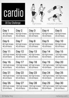 Cardio 30 day challenge