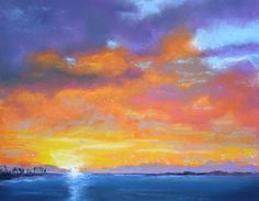 Pacific Sunset, Bill Canright, Pastel, 8 x 11