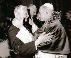 Joseph Ratzinger con el Papa Juan Pablo II