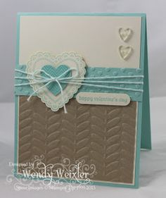 Wickedly Wonderful Creations: Valentine Blues ... lovin the colour combo and layout on this one!