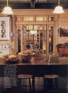 Practical Magic set still - kitchen looking into conservatory