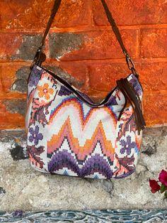 Handwoven white moon Vintage Textiles, Textile Art, Hand Weaving, Moon, Bags, The Moon, Handbags, Hand Knitting, Bag