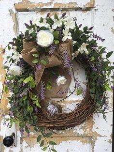 Spring Wreath Summer Wreath Front Door Wreath Spring Door