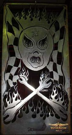 """INFERNO"" - 8' x 4' 16 gauge steel by Dan Statler #vulturekulture #lucha"