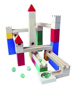 Marble run castle, classic wooden toy, Christmas gift idea for kids
