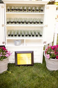 Mason jar wedding