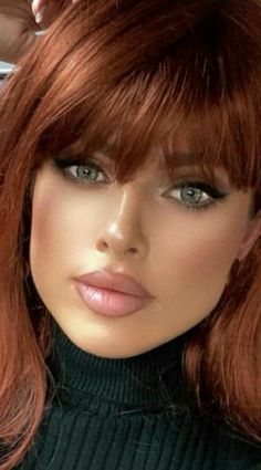 Pretty Eyes, Beautiful Eyes, Beautiful Women Pictures, Gorgeous Women, Model Face, Flawless Face, Hair Today, Red Hair, Woman Face