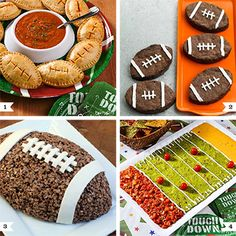 Football theme party food