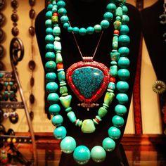 Rare Chinese Turquoise from the private vault of Peyote Bird Designs!   www.peyotebird.com