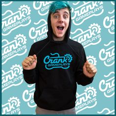 This black CrankGameplays logo hoodie will keep you warm, especially if you live in a desert but we wouldn't recommend it | Ethan merchandise | http://www.crankgameplays.com/product/crank-hoodie