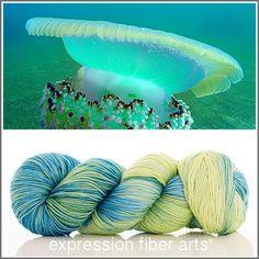 Expression Fiber Arts Yarn - JELLYFISH 'RESILIENT' SUPERWASH MERINO SOCK, $24.00 (http://www.expressionfiberarts.com/products/jellyfish-resilient-superwash-merino-sock.html)