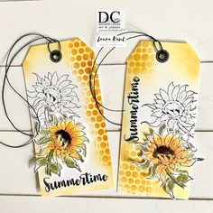 Gelli Plate Printing, November 9th, Handmade Gift Tags, Flower Cards, Summertime, Creative, Colors, Colour, Color
