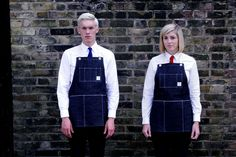 Image of The Pinny, Japanese red line selvage, inspired by 1940's workwear apron, Made in Great Britain.